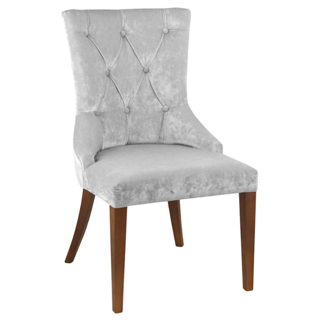 Velvet cover tufted back wing armchair dining room for Armchair covers to buy