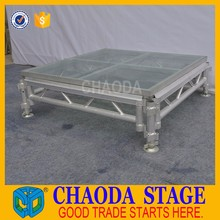 Attractive Price Portable Glass Stage For Wedding
