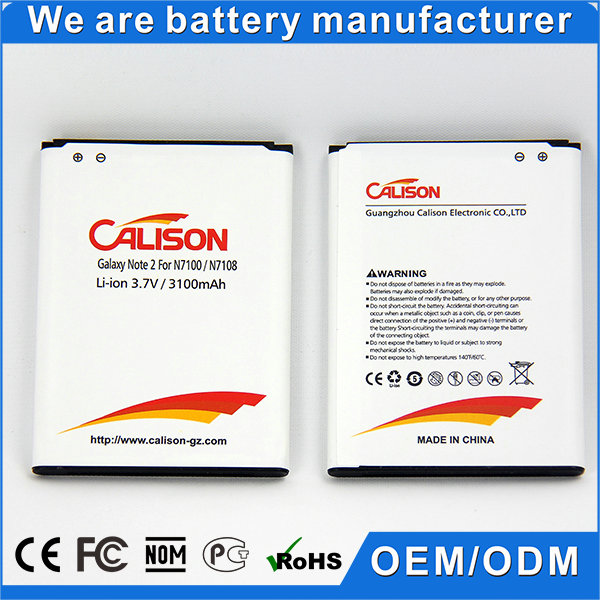 3100mAh Li-ion Batteries for Samsung Galaxy Note 2 9100