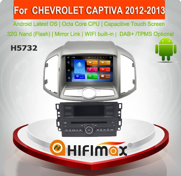 Hifimax Andriod 6.0 car dvd gps navigation system for CHEVROLET CAPTIVA 2012-2014 WITH A9 CHIPSET OCTA CORE 32G 1080P WIFI DVR