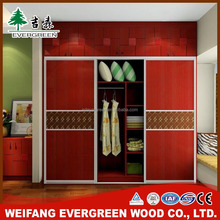 Simple Glass Whole Sale Customized 2 Door Wardrobe Malaysia