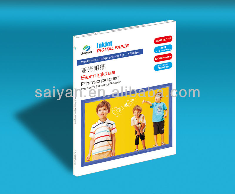 china direct sell 230gsm semi-glossy photo paper wholesale photo paper