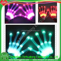 Factory led lighting remote control gloves newest flashing gloves Manufacturer