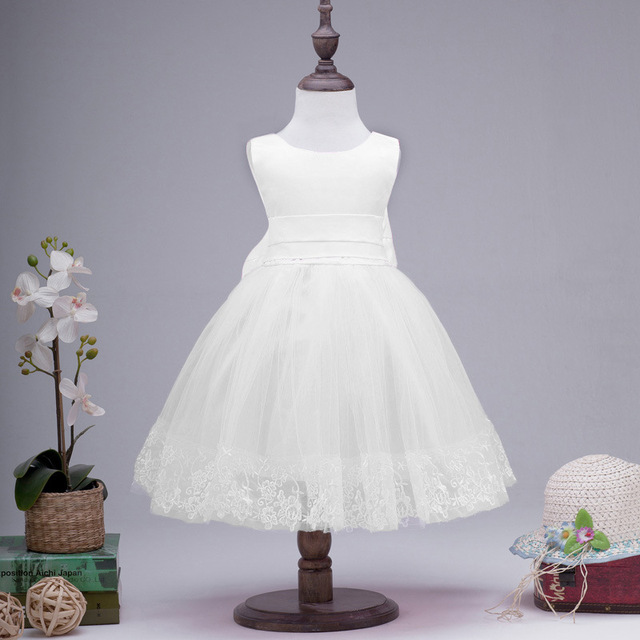Children Princess Dress Flower Girl White Cheap Bridesmaid Dresses