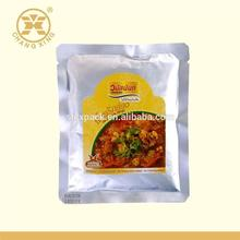 Three Side Sealed Vacuum Packing Bag/Nylon Retort Pouch For Frozen Food With Tear Notch-T132