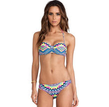 L0318A Sexy Hot Girls Skimpy Printed Beachwear Fancy Bikini Swimwear