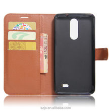 Custom design Book Style PU Leather Case for ZTE Grand X 4 with Credit Card Holder