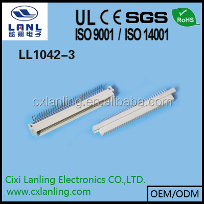 2.54mm DIN connector 3 rows straight and right angle type