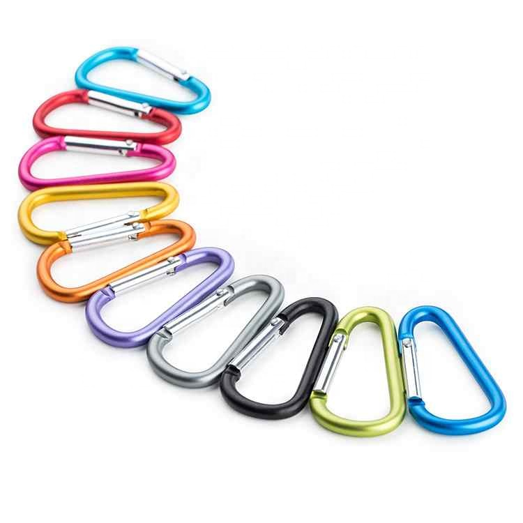 Aluminum D Shape Spring Clip Outdoor Camping Carabiner <strong>Hook</strong>