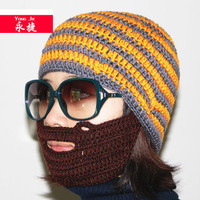 China wholesale crochet beard beanie hat