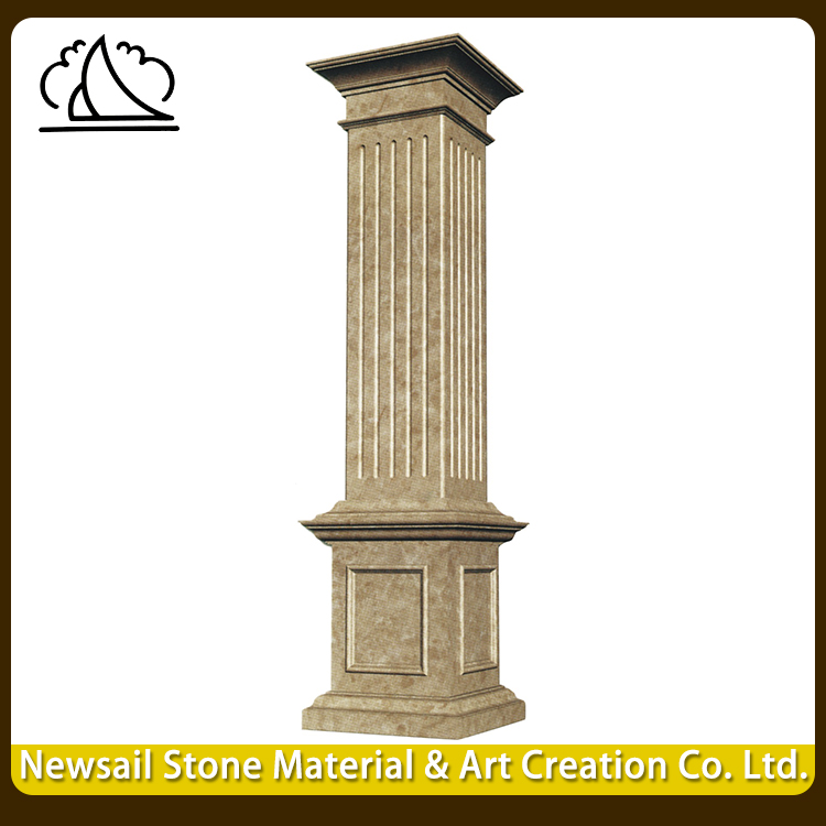 High Quality Square Granite Gate Pillar Design
