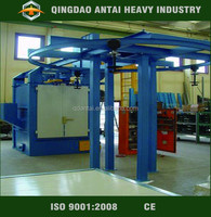 Q58 series of Continuous hanging chain type gas cylinder shot blasting machine