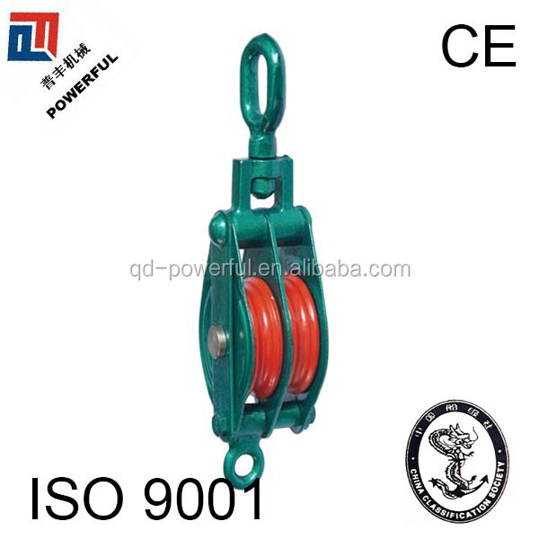 MODEL S SNATCH CABLE PULLEY WITH OVAL EYE,DOUBLE WHEEL