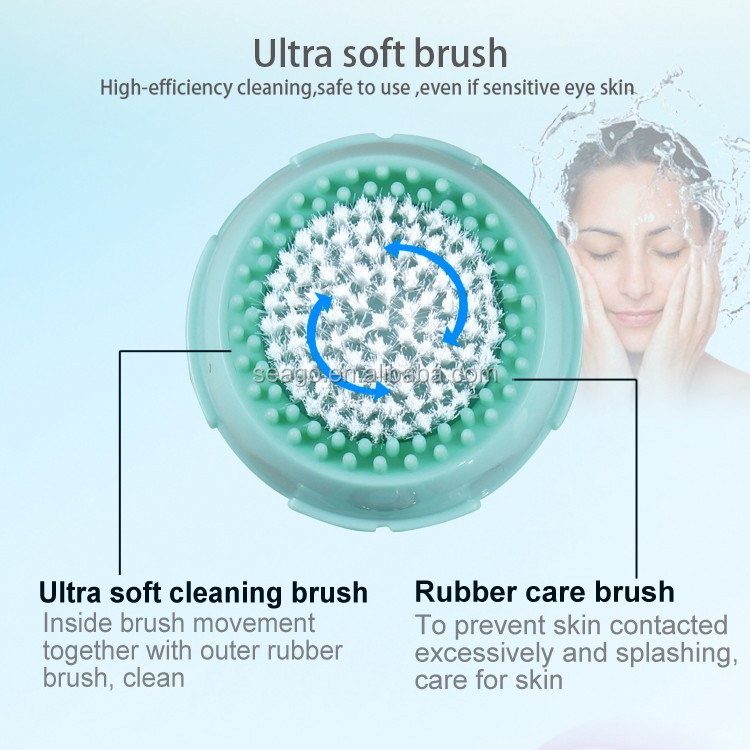 Vibrating Waterproof Cleansing System Beauty Sonic Facial Cleansing Brush Cleaner SG701