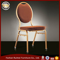 New arrival steel iron alumium customizable different colors hotel stackable oval back banquet event chair for wedding