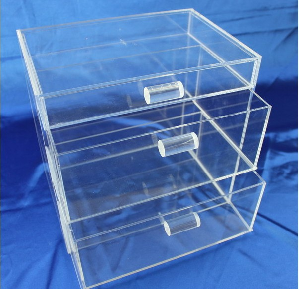 Clear waterproof plastic drawer storage box