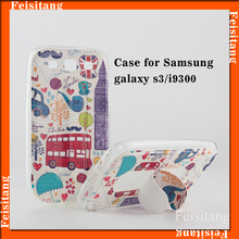 Transparent plastic printing for samsung Galaxy S3 phone case