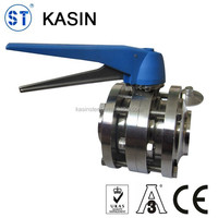 Stainless steel 3pcs butterfly valve