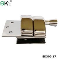 Stainless steel spring mirror two sided gate latch