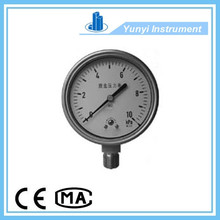 stainless steel bourdon tube pressure gauge