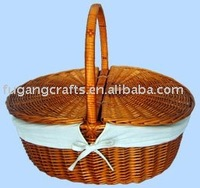 willow picnic baskets for two people