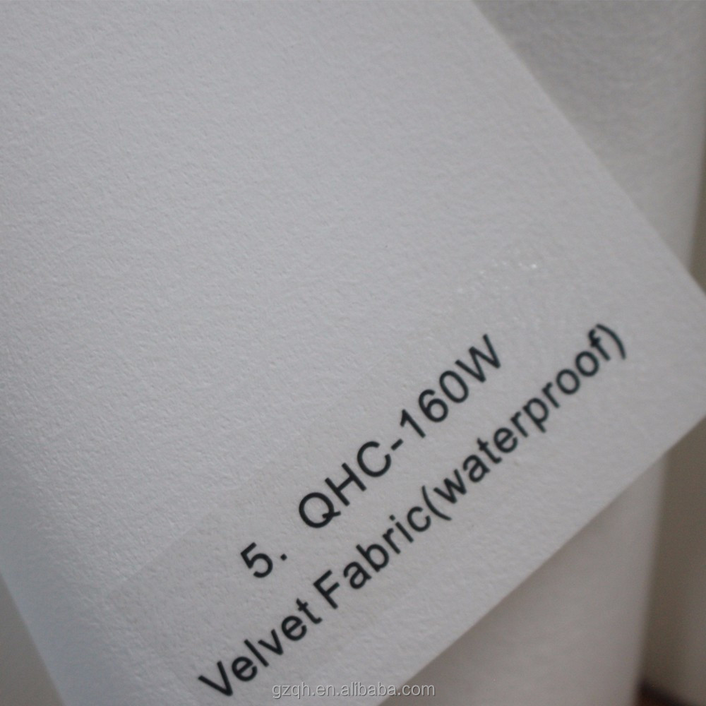 Waterproof thin stretch printed velvet fabric