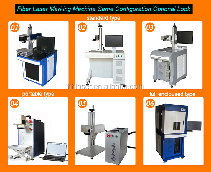 Fiber marker handheld maser marking machine mini metal laser marking machine / desktop fiber laser marking machine