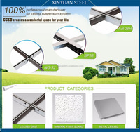 Suspended Steel T-bar Size with Groove for ceiling tiles