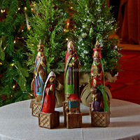 Wholesale Christmas Decoration Resin Antique Nativity Stables