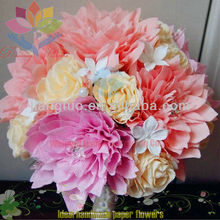 2013 hot selling paper flower decorative decals for furniture