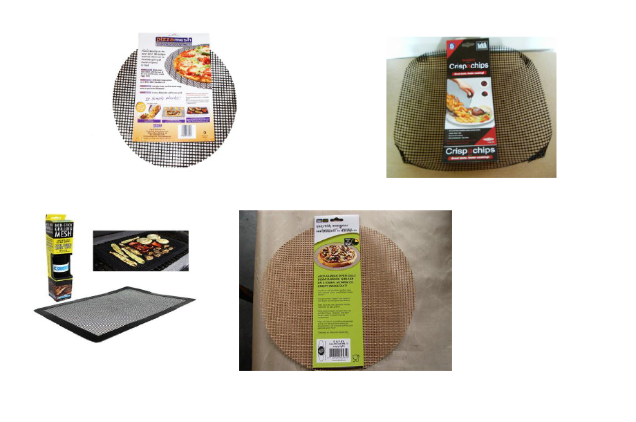 tray bases pizza oven crisping mesh PTFE teflon cooking wire mesh