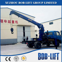 Used Telescopic Flatbed Crane Truck for Sale
