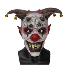 Anime Cosplay Costume Clown Mask Latex Party Full Head Jingle Jangle Scary Clown Masks