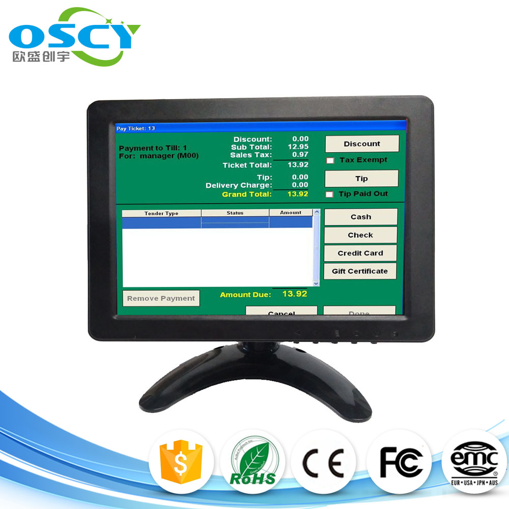 New arrive 8inch TFT lcd VGA monitor using for POS system