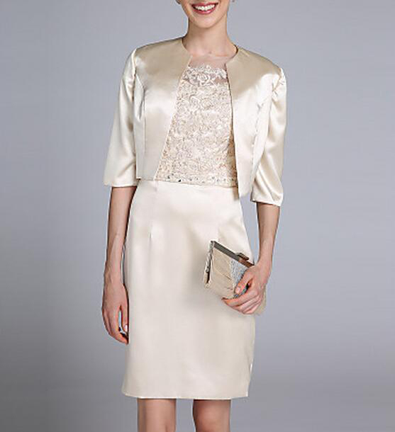 Plus size mother of the bride lace dresses with jackets