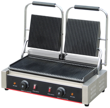 Commercial Flat Top Electric Griller Panini Toaster To Warm Hot-Dog Breads CE Certified