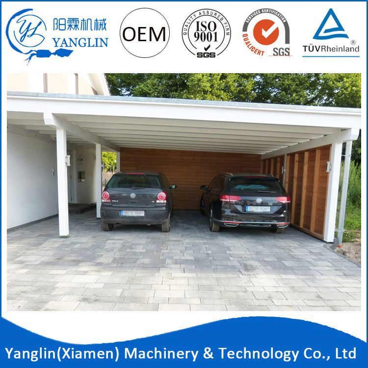 Latest Design Outdoor Metal Carport 2 Car Wash Gutters