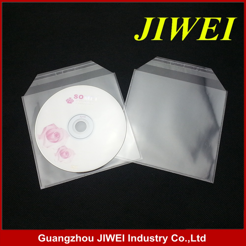 cd/dvd self adhesive opp plastic bags