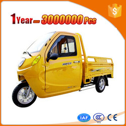 novel high quality electric pedal cargo tricycle for sale with canopy