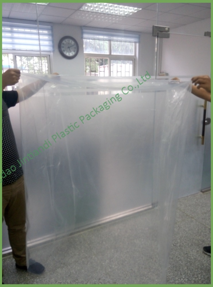 Custom clear industrial use heavy duty jumbo plastic water proof dustproof bag for covering / packaging equipment / machines
