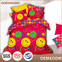 Latested Design Popular Emoji Comforter King Size 100% Hot Cartoon 3D Kid Child Printed Bedding Set