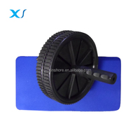 Pro. Durable Exercise Ab Power Wheel With Anti Slip Grips , Knee Mat - Easy Assembly