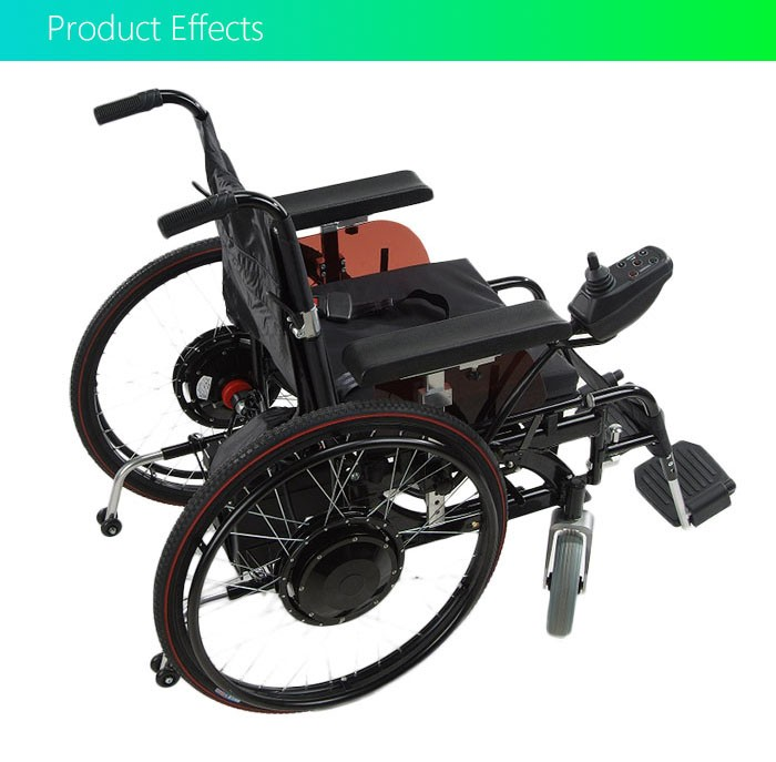 CE Approved 24'' folding electric wheelchair conversion kit
