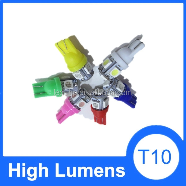 Wholesale manufacture car auto T10 LED lamp bulb, 5050 5SMD auto led t10