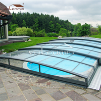 low line swimming pool enclosure / retractable swimming pool cover with UV protection