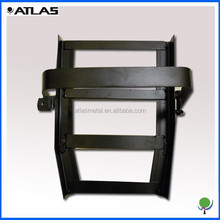 custom powder coated steel stand parts with metal bending welding and forming services