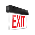 Factory wall mounted emergency exit sign with battery backup