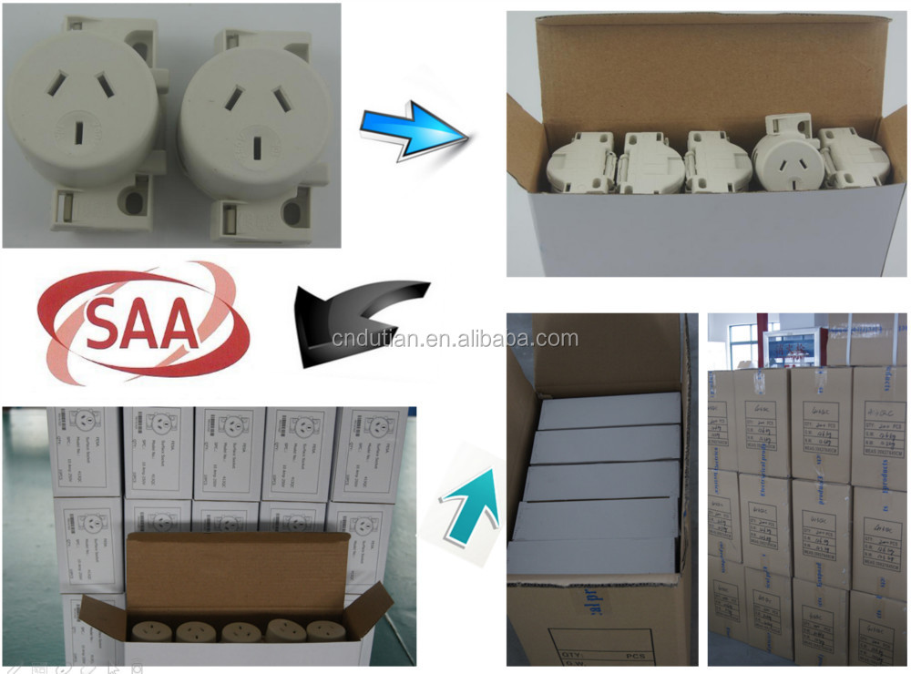 socket outlets Surface socket single 250V 10A Quick connect back wired 1.00mm2 to 2.5mm2 cable Nail plate