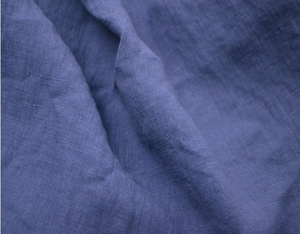 plain dyed washed 100% linen fabric for making bed sheets