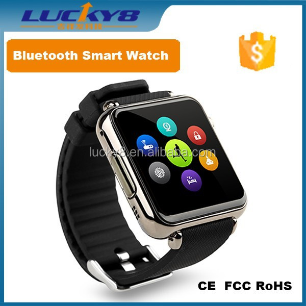 comfortable and light Silver/black GPRS/MMS/SMS MicroSD Card unlocked Sliver Camera GSM Quad-band Watch Phone